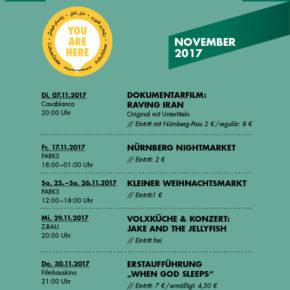 Die YOU ARE HERE Veranstaltungstipps für November 2017