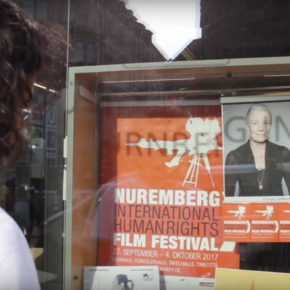 "Das Team von ""YAH"" beim ""Nuremberg International Human Rights Film Festival"""